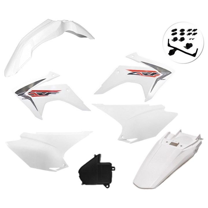 Kit Plastico Crf 230 Com Adesivo Amx Branco