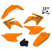 Kit Plastico Crf 230 Com Adesivo Amx Laranja