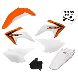 Kit Plastico Crf 230 Com Adesivo Amx Laranja Branco