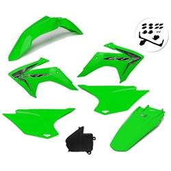Kit Plastico Crf 230 Com Adesivo Amx Verde