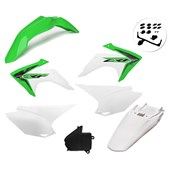 Kit Plastico Crf 230 Com Adesivo Amx Verde Branco