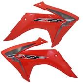 Kit Plastico Crf 230 Com Adesivo Amx Vermelho