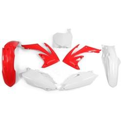 Kit Plastico Crf 250 10/13 - Crf 450 09/12 Vermelho Branco Red Dragon