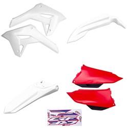 Kit Plastico Crf 250f 21 Amx Branco Vermelho Branco