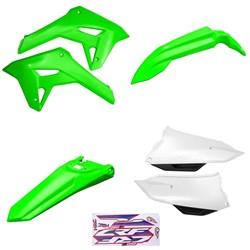 Kit Plastico Crf 250f 21 Amx Verde Branco Verde