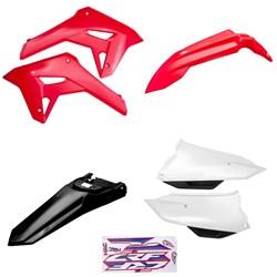 Kit Plastico Crf 250f 21 Amx Vermelho Branco Preto