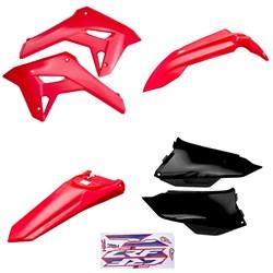 Kit Plastico Crf 250f 21 Amx Vermelho Preto Vermelho