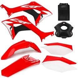Kit Plástico CRF 250F AMX Vermelho Branco