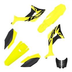 Kit Plastico CRF 250F BIKER Evo Amarelo Neon Preto