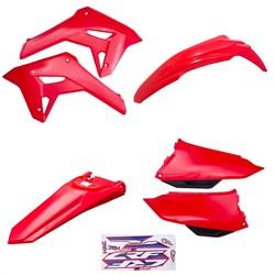 Kit Plástico Crf 250f F21 Amx Vermelho