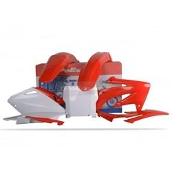 Kit Plastico Crf 250R 04 a 05 Polisport Vermelho Branco