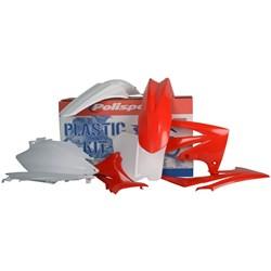 Kit Plastico CRF 250R 10 a 13 Polisport Vermelho Branco
