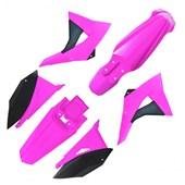 Kit Plastico CRF230 BIKER Next Rosa Preto