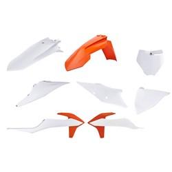 Kit Plástico Ktm Sx - Sxf 19/20 Branco Laranja Polisport