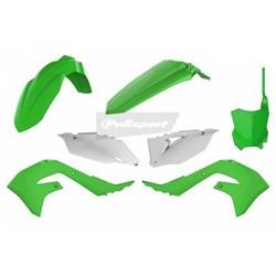 Kit Plastico Kx 450f / Kxf 450 - 2019 2020 Polisport Verde Branco