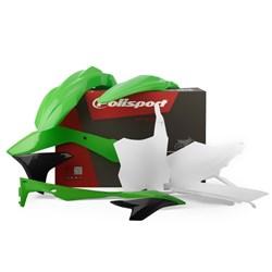 Kit Plástico Kxf 450 16/18 Polisport Verde Branco