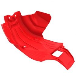 Kit Protetor De Motor / Tampas Do Motor / Quadro / Balança Crf 250f Anker Vermelho