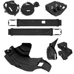 Kit Protetor De Motor / Tampas Do Motor / Quadro / Balança / Guia De Corrente Crf 250f Anker Preto