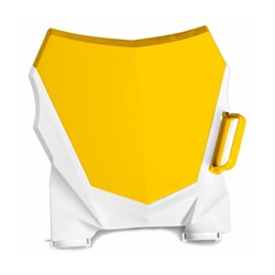 Number Plate Frontal AMX Duo Crf 230 Amarelo Branco