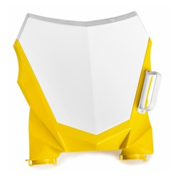 Number Plate Frontal Amx Duo Crf 230 Branco Amarelo
