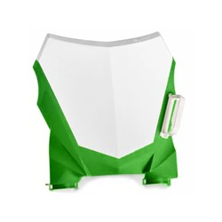 Number Plate Frontal Amx Duo Crf 230 Branco Verde