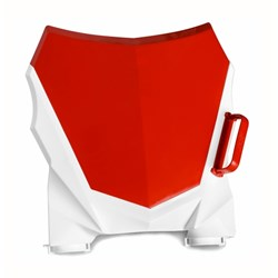 Number Plate Frontal AMX Duo Crf 230 Vermelho Branco