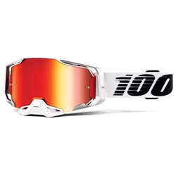 Oculos 100% Armega Espelhado Lightsaber Branco Preto