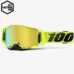 Óculos 100% ARMEGA Nuclear Circus Espelhado Amarelo Fluor