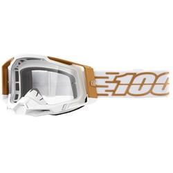 Óculos 100% Racecraft 2 Mayfair Branco Dourado