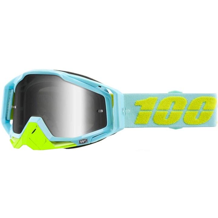 Oculos 100% Racecraft Pinacles Azul Amarelo