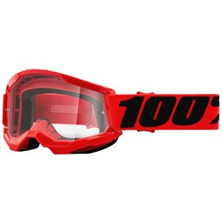 Oculos 100% Strata 2 Juvenil Vermelho