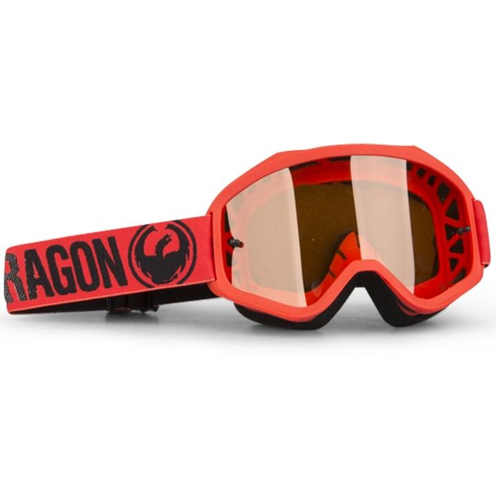 Óculos Dragon Mxv Vermelho Lente Amber Lumalens