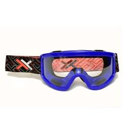Óculos Lente Transparente Mattos Racing Mx Azul