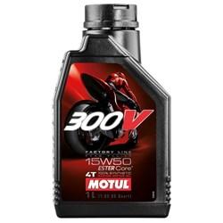 Óleo MOTUL 300V 100% Sintético 15W50 - 4 Tempos
