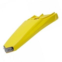 Paralama Traseiro Crf 230 Circuit Amarelo - Com Led Transparente