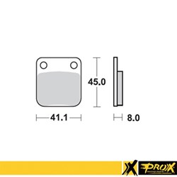 Pastilha de Freio PROX Traseira KX 65