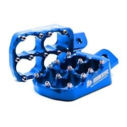 Pedaleira Biker Alumínio Kxf 250 / 450 Azul