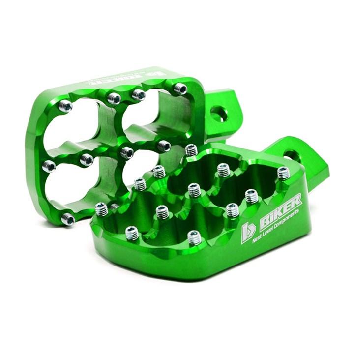 Pedaleira Biker Alumínio Kxf 250 / 450 Verde