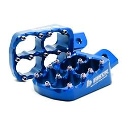 Pedaleira Crf 230 / Crf 250f Biker Alumínio Azul