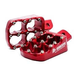 Pedaleira Crf 230 / Crf 250f Biker Alumínio Vermelho