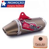 Ponteira Belparts Crf 230 Bpa Bronze Escape Completo + Filtro Ar