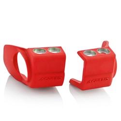 Protetor De Eixo De Roda Dianteiro Honda / Kawasaki Acerbis Vermelho