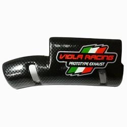 Protetor de escape Viola Racing Carbono