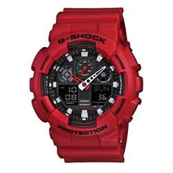 Relogio G-shock Ga-100b-4adr Vermelho Anadigi