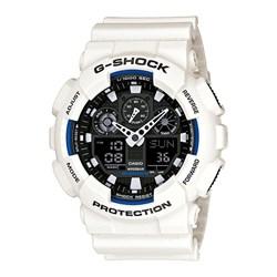 Relogio G-shock Ga-100b-7adr Branco Anadigi