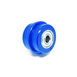 Rolete De Corrente 34mm Universal Biker Azul