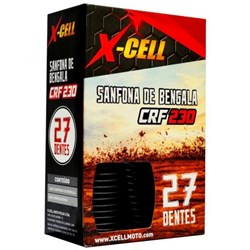 Sanfona de Bengala X-CELL 27 Dentes CRF 230 Preto