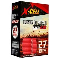 Sanfona de Bengala X-CELL 27 Dentes CRF 230 Vermelho